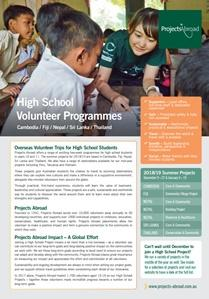 Projects Abroad - High School Volunteer Projects (AU)
