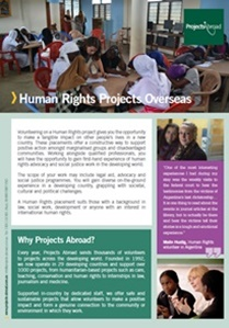 Projects Abroad - Human Rights