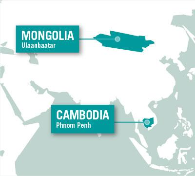 Projects Abroad is based in Ulaanbaatar in Mongolia, and Phnom Penh in Cambodia