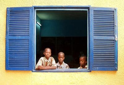 Local children in Senegal