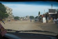 Sandy street in Lomé