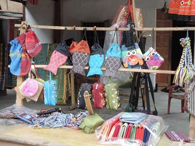 Shop displays items on Vietnamese street