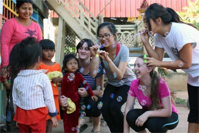 Volunteers doing Care work in Cambodia