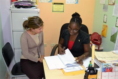 Projects Abroad Care volunteer from the United Kingdom at her placement in Jamaica