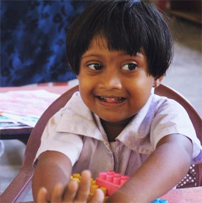 Young child at Projects Abroad Care and Community project in Sri lanka