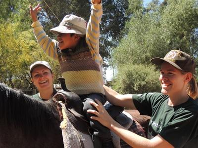 Volunteer on an Equine Therapy project