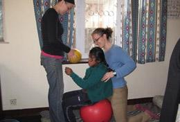 A High School Project volunteer gains valuable medical experience shadowing local staff in the physiotherapy department of a hospital in Nepal.