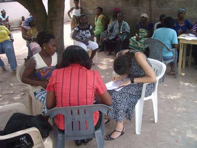 Projects Abroad Human Rights Volunteer Julia working on a mediation in Dodowa
