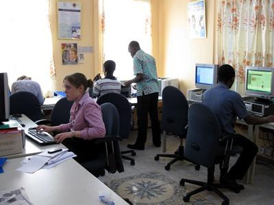 Volunteers in the Human Rights office in Ghana