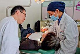 A Dentistry intern learns from local dentists at our placement hospital in China.