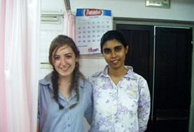 A Dentistry volunteer spends time learning from a local dentist during her internship in Sri Lanka.