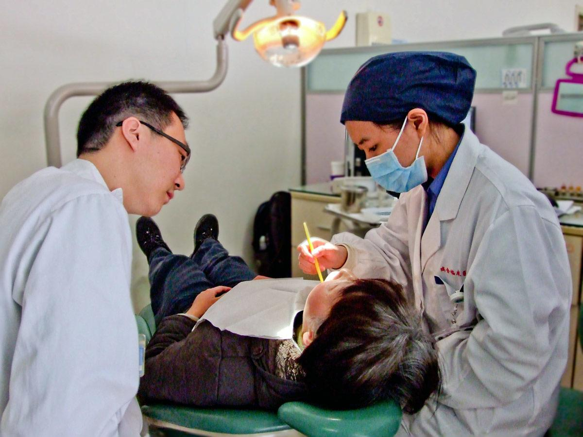 China Dentistry interns observe local dentists at our placement hospital in  China.