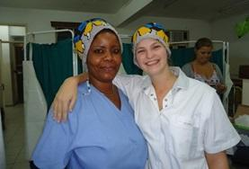A Nursing intern spends time shadowing a local medical professional during her internship in Tanzania.