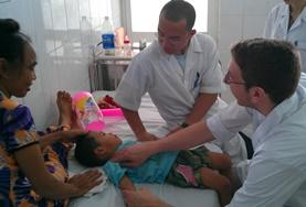 A Nursing volunteer gains valuable work experience in the medical field during his internship at a hospital in Vietnam.