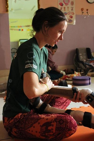 Volunteer physio in paediatric setting in Cambodia