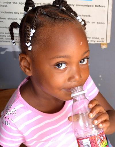 A girl at the outreach programme
