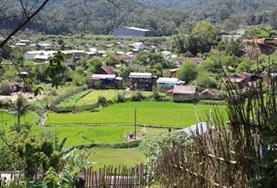 A scenic view over Andasibe village, Madagascar, where the Projects Abroad volunteer Public Health project is based.