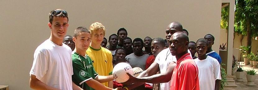 Volunteer football coaching abroad