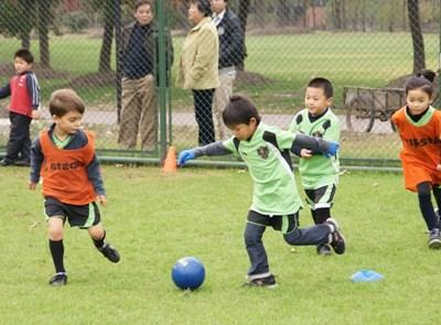 Volunteer football coaching in China