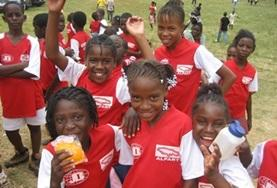 Children learn about sports, exercise and fitness with the guidance of volunteers at our School Sports placements.