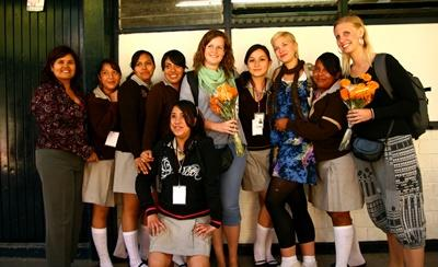 Students on their gap year volunteering to do a teaching project in Mexico.
