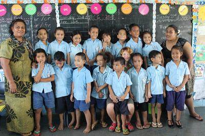 School children at Projects Abroad placement in Samoa, AH Mu Academy School