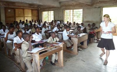 Projects Abroad Teaching volunteer teaching a class in Togo