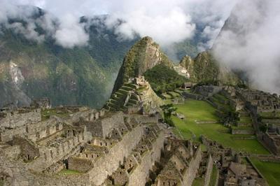Scenic shot of Machu Picchu in Peru