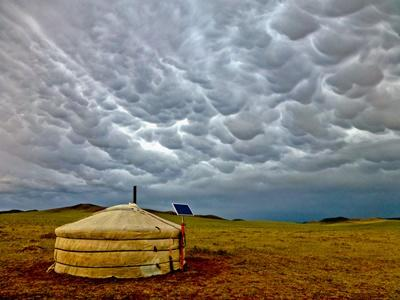Volunteers who travel to Mongolia are likely to see these nomad huts out on the steppe